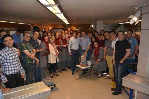 کارمندان نوین چوب در چهاردهمین سالگرد تاسیس شرکت