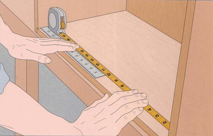 اندازهگیری داخلی قطعه کار در نجاری