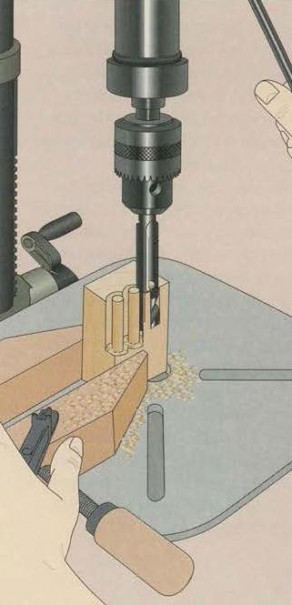 ساخت قطعات دوبل در کارگاه به کمک دریل ستونی