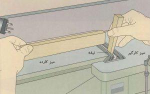 تنظیم ارتفاع میز کارده ( راه اندازی دستگاه کف رنده )