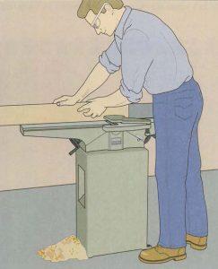 رنده کردن نر قطعه کار به کمک دستگاه کف رنده
