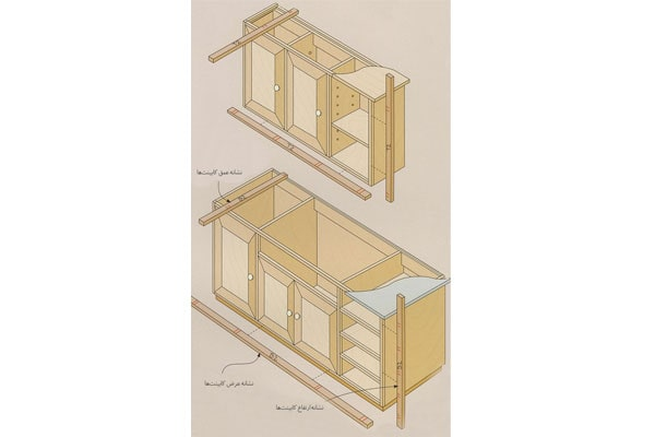 ساخت کابینت MDF آشپزخانه